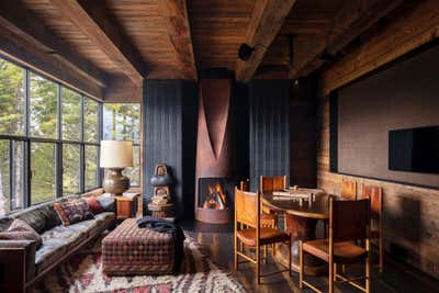 Western Living Room. Mountain House by Hammer and Spear.