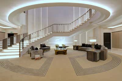 Art Deco Lobby and Reception. Clarges Mayfair  by Martin Kemp Design.