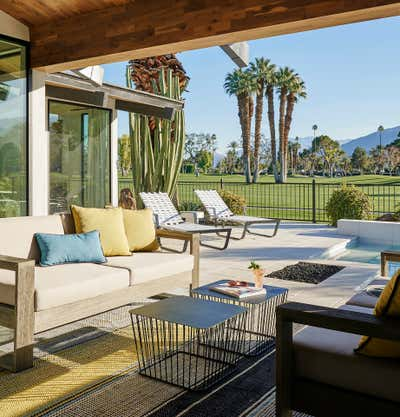 Mid-Century Modern Patio and Deck. Palm Springs by Studio Gild.