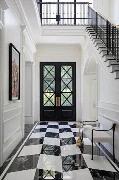 Art Deco Family Home Entry and Hall. Perugia Road by KES Studio.