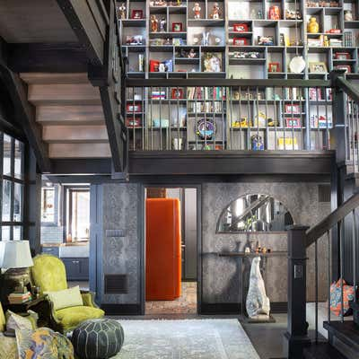 Traditional Lobby and Reception. Lake House by Paul Hardy Design Inc..