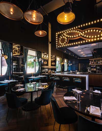 Hollywood Regency Kitchen. GJ Tavern by Nest Design Group.