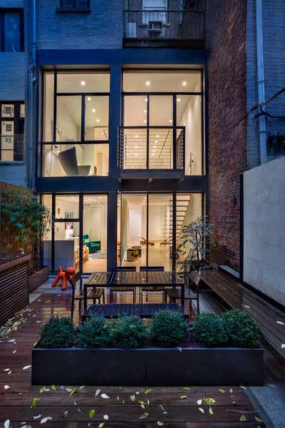 Contemporary Patio and Deck. UPPER WEST SIDE LANDMARK TOWNHOUSE by Michael Wood & Co..