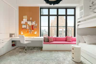 Contemporary Children's Room. TRIBECA FAMILY HOME by Michael Wood & Co..
