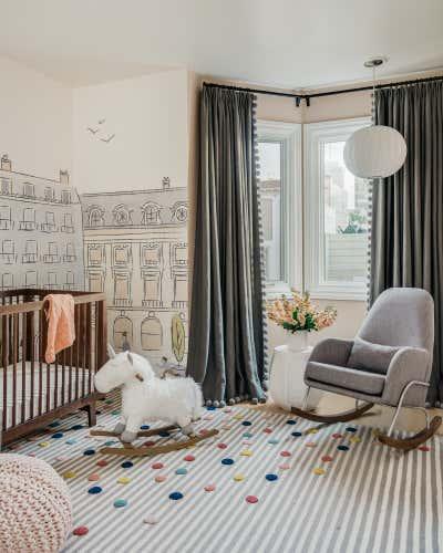 Modern Children's Room. Nob Hill by Lindsay Gerber Interiors.