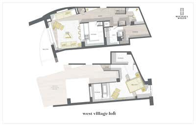 Bachelor Pad Living Room. WEST VILLAGE BACHELOR LOFT by Michael Wood & Co..