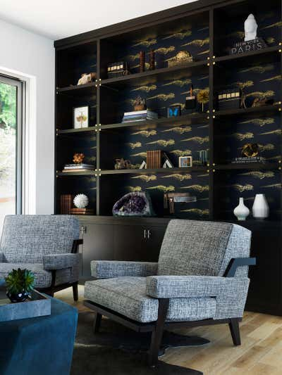 Bachelor Pad Office and Study. Sausalito Residence by Tineke Triggs Artistic Designs For Living.