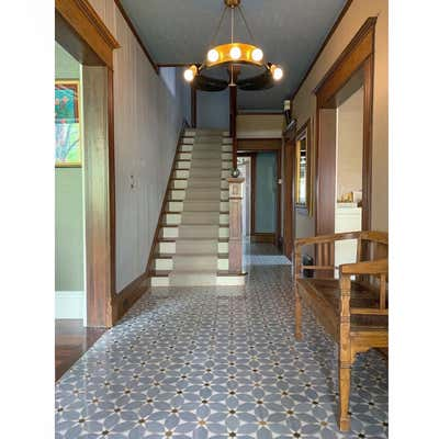 Art Deco Family Home Entry and Hall. Elbow Park by Paul Hardy Design Inc..
