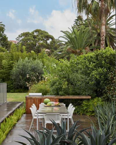 Eclectic Patio and Deck. Sydney Residence by Sarah Davison Interior Design.