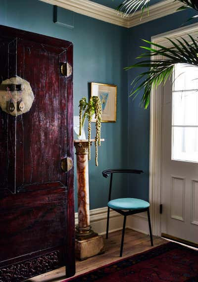 Art Deco Apartment Entry and Hall. Park Slope Residence  by Jett Projects.
