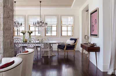 Hollywood Regency Dining Room. Old World Reimagined by Andrea Schumacher Interiors.