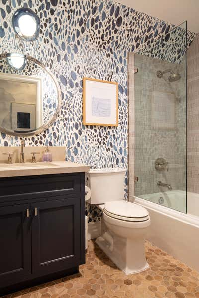 Contemporary Bathroom. Timeless but Edgy  by Lisa Queen Design.