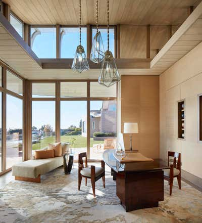 Art Nouveau Office and Study. Nouveau Modern by The Wiseman Group Interior Design, Inc..