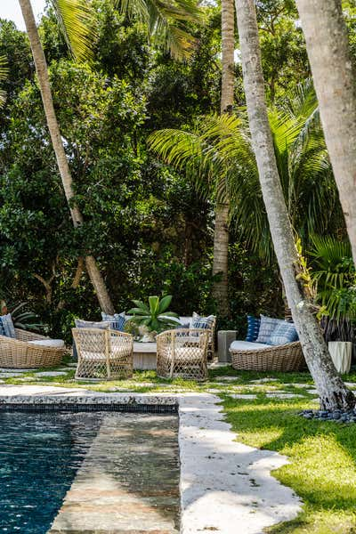 Moroccan Patio and Deck. Coconut Grove by KitchenLab | Rebekah Zaveloff Interiors.