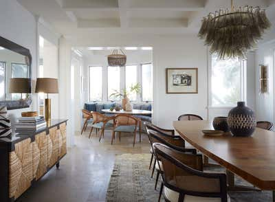 Tropical Dining Room. Coconut Grove by KitchenLab | Rebekah Zaveloff Interiors.