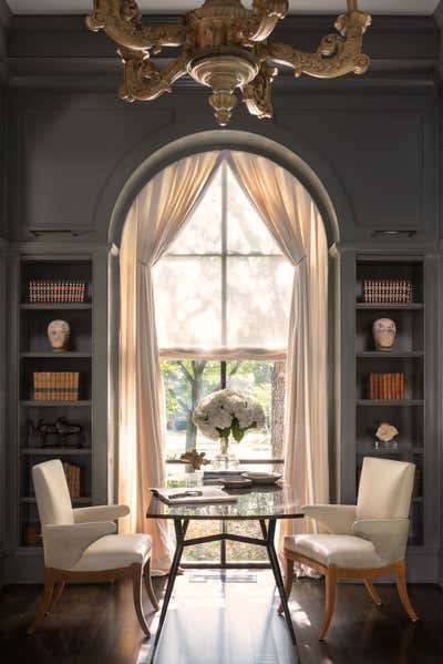 Regency Office and Study. The Art of Home by Mohon Interiors.