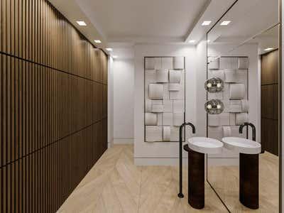 Contemporary Family Home Bathroom. Steele Powder by Habitat Roche.