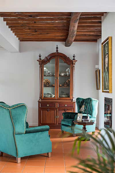 Art Nouveau Living Room. The Rural Guest House by OMNU.
