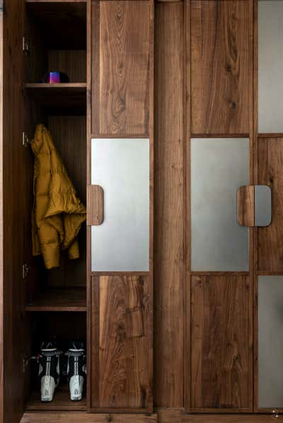 Eclectic Storage Room and Closet. Lowell by Two Muse Studios.