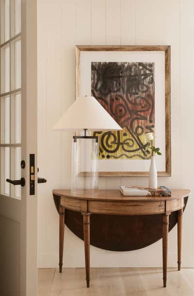 Bachelor Pad Entry and Hall. Cherokee Road House by Patti Woods Interiors.