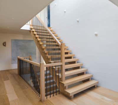Contemporary Beach House Entry and Hall. Southampton Residence by Ayromloo Design.