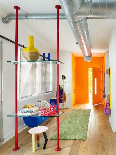 Contemporary Apartment Entry and Hall. Santa Monica Loft by Ayromloo Design.