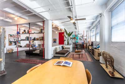 Industrial Apartment Open Plan. Downtown LA Loft by Ayromloo Design.
