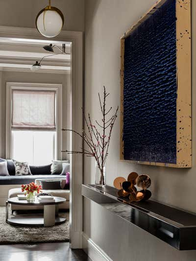 Contemporary Family Home Entry and Hall. Beacon Street Residence by Elms Interior Design.