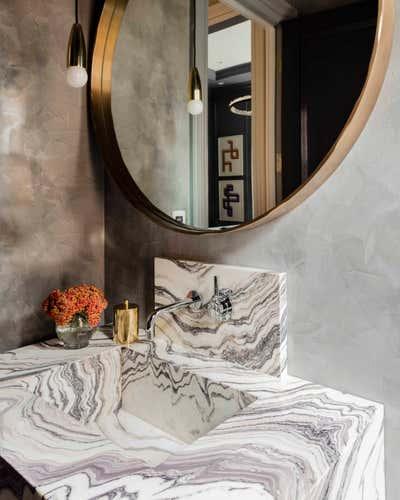 Contemporary Family Home Bathroom. Beacon Street Residence by Elms Interior Design.