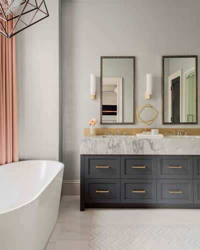 Contemporary Family Home Bathroom. Marlborough Street Pied-a-Terre  by Elms Interior Design.