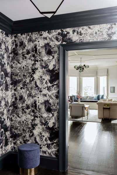 Contemporary Family Home Entry and Hall. Marlborough Street Pied-a-Terre  by Elms Interior Design.