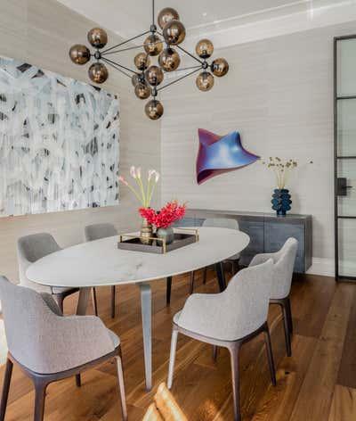 Contemporary Family Home Dining Room. Marlborough Street Residence by Elms Interior Design.