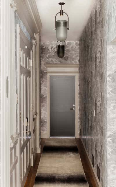 Contemporary Family Home Entry and Hall. Marlborough Street Residence by Elms Interior Design.