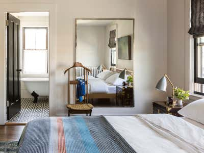 Contemporary Bachelor Pad Bedroom. Cambridge Massachusetts by Carter Design.