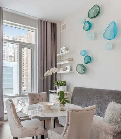 Contemporary Apartment Dining Room. Battery Park City Residence  by Lo Chen Design.
