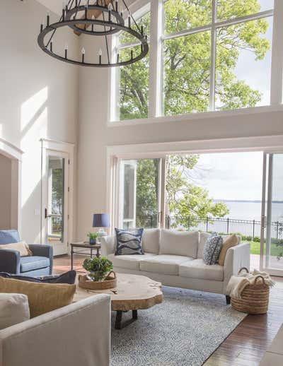 Country House Living Room. Lakeside Retreat by Fontana & Dames.
