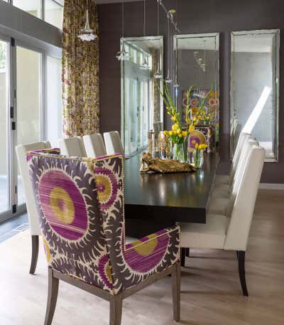 Contemporary Family Home Dining Room. Lakeside New Build by Andrea Schumacher Interiors.