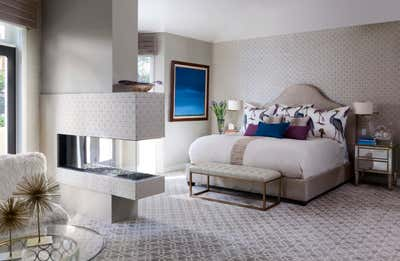 Contemporary Family Home Bedroom. Lakeside New Build by Andrea Schumacher Interiors.