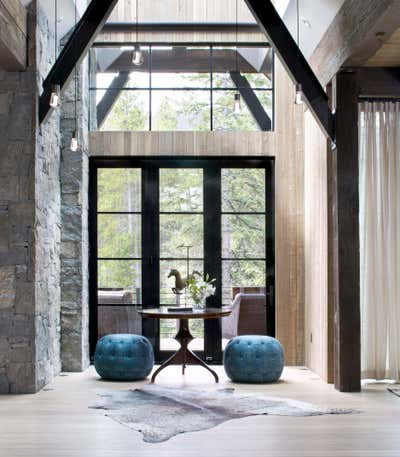 Contemporary Entry and Hall. Mountain Contemporary by Andrea Schumacher Interiors.