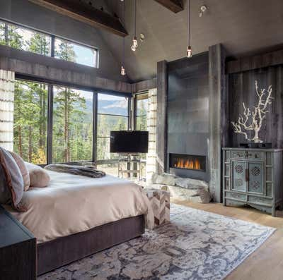 Contemporary Bedroom. Mountain Contemporary by Andrea Schumacher Interiors.