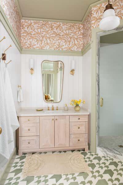 Tropical Bathroom. Work Hard Play Harder by Cortney Bishop Design.