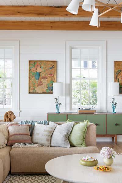 Tropical Living Room. Work Hard Play Harder by Cortney Bishop Design.