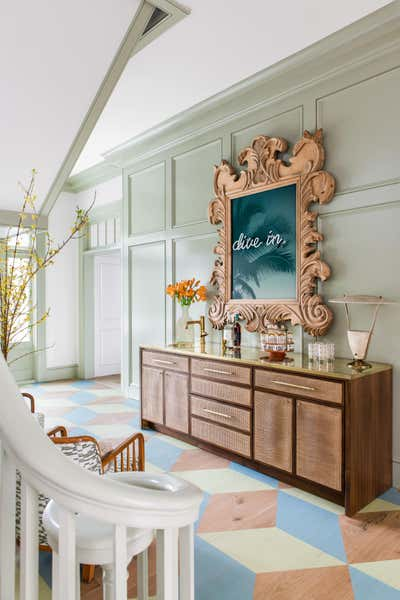 Tropical Entry and Hall. Work Hard Play Harder by Cortney Bishop Design.