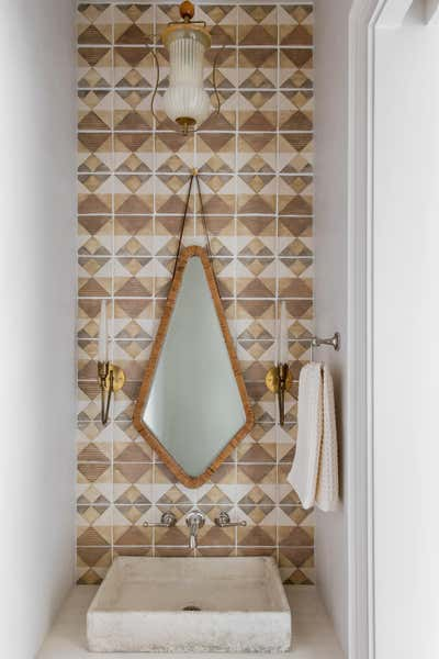 Arts and Crafts Bathroom. Manor of Fact by Cortney Bishop Design.