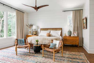 Arts and Crafts Bedroom. Island Bohemian by Cortney Bishop Design.