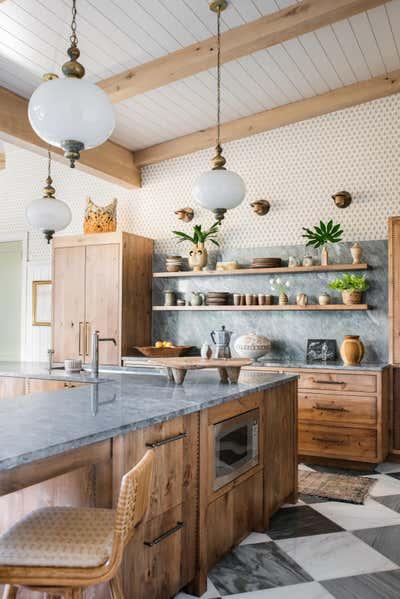 Beach Style Kitchen. Island Bohemian by Cortney Bishop Design.
