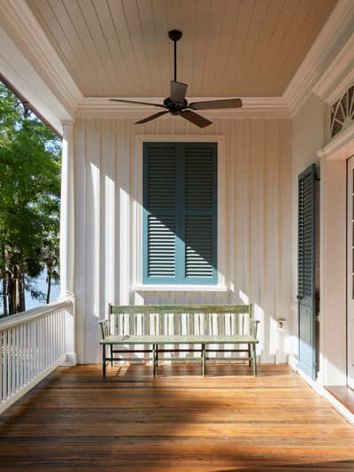 Coastal Patio and Deck. Pointe Coupee by Charles H Chewning Interiors.