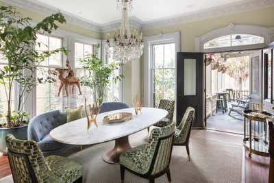 Contemporary Family Home Dining Room. Monterey Square by Charles H Chewning Interiors.