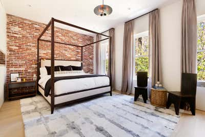 Industrial Bedroom. Townhouse in New York City by Ychelle Interior Design.