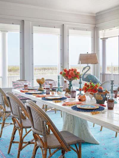 Coastal Patio and Deck. Whimsical Beach House by Wesley Moon Inc..